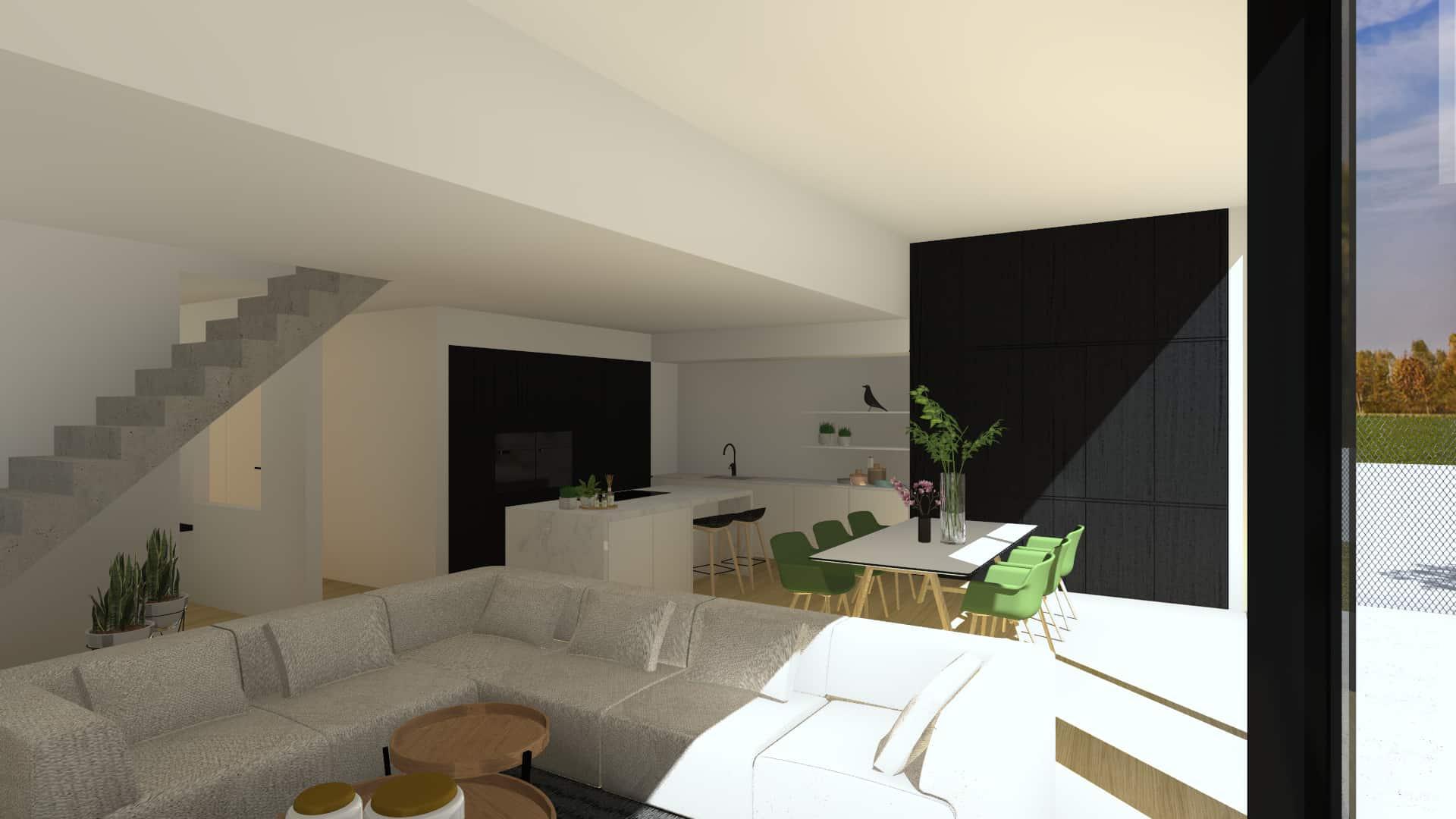 3D beeld van leefruimte