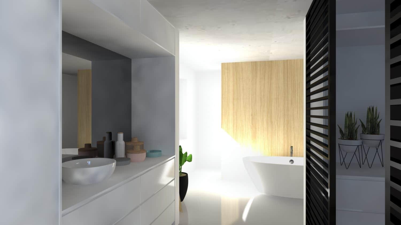3D beeld van badkamer