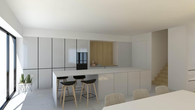 3D beeld van keuken